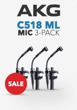 Pack de 3 micros mini con clip AKG C518 ML, con Mini XLR